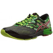 Asics Men's Gel Noosa Tri 9 Carbon, Fiery Red and Green Mesh Running Shoes - 6 UK
