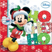Servetele Mickey Mouse Xmas