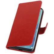 Rood Pull-Up Booktype Hoesje voor Huawei Mate 20 Pro