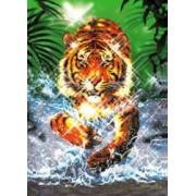Puzzle cu efect metalic 1000 piese model Tigru