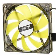 MAIKOU ventilador de refrigeracion de 12 cm con luz amarilla LED - negro + amarillo