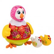 rolimate Educational Baby Toys - One Dancing Hen and Two Whistle Chicks, Mulity-Function/Flashing Lighting/Music/Universal Wheel/Voice Control/Baby Musical Toys