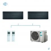 DAIKIN climatisation bi split mural gaz R32 Stylish Blackwood FTXA-AT 5kW WiFi FTXA35AT + FTXA50AT + 2MXM50M9 A+++