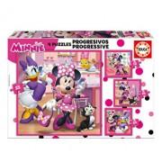 Puzzle-uri progresive Minnie Happy Helpers, 12-16-20-25 piese