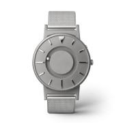 Ceas de mână tactil unisex EONE Bradley cu brățară argintie, din plasă de oțel inox
