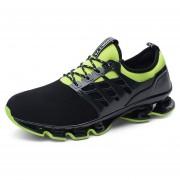 Zapatos Deportivos Amortiguación Para Unisex TK05 - Negro Y Verde