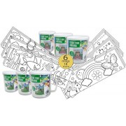 Set of 6 - Color Your Own Coloring Mug for Boys & Girls - Wholesale Bulk Set - 18 Assorted Inserts by Horizon