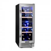 Vinovilla Duo 17 Garrafeira Refrigeradora 2 Compartimentos 53l 17 Garrafas 3 Cores Porta de Vidro
