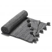 La Forma Woondeken Marzag grijs 100% katoen met pompoenen (125 x 150 cm)