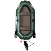 Čln Kolibri K-240 TP zelený, pevná podlaha + držiak