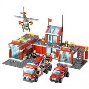 Generic Kazi 8501 Fire Station Building Block Sets Toys Educational Gift Fidget Toys 774Pcs One Piece