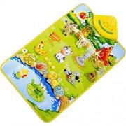 DATEWORK Kids Baby Farm Animal Musical Music Touch Play Singing Gym Carpet Mat Toy Gift