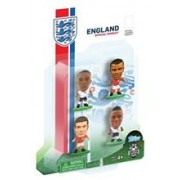 Figurine SoccerStarz England 4 Figurine Cole Gibbs Sterling And Wilshere 2014