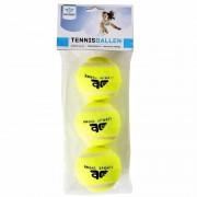 Merkloos 12x Speelgoed tennisballen voor honden