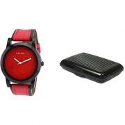 Danzen wrist watch for mens with Black card case -cdz-417