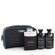 Bvlgari Man Black Cologne Gift Set By Bvlgari 3.4 oz Eau De Toilette Spray + 2.5 oz After Shave Balm + 2.5 oz Shower Gel in Pouch