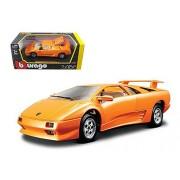 Lamborghini Diablo Orange 1/24 Car Model by Bburago