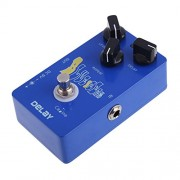 Alcoa Prime Blue Ocean Guitar Audio True Bypass Delay Effect Pedal Caline Delay Level Repeat