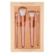 Makeup Revolution London Conceal & Define confezione regalo pennello per ombretto e correttore 1 pz + pennello blush 1 pz + pennello per fondotinta 1 pz + pennello da sfumatura 1 pz donna