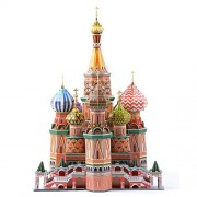 Premium 3D Jigsaw Puzzle ST. Basil's Cathedral Hardcover Version DIY Model