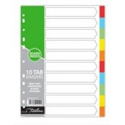 Treeline A4 File Divider Board Tab 1-10, Retail