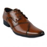 Shoe Island Designer Tan Brown Derby Formal Shoes