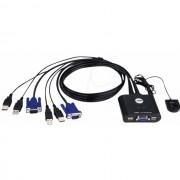 KVM SWITCH, ATEN CS22U, 2x1, USB, VGA (EK-UAK2)