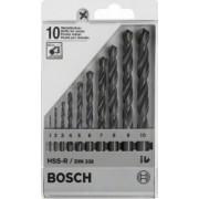 Bosch CASETA 10 BURGHIE HSS-R (1,0 - 10 mm) - BSH-1609200203
