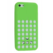 Silicone Rubber Case for iPhone 5c - Apple Soft Cover (Green)