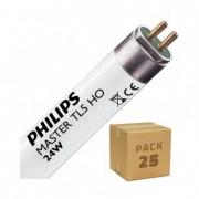 efectoled.com Pack Tubo Fluorescente Regulable PHILIPS T5 HO 550mm Conexión dos Laterales 24W (25 un) Blanco Neutro