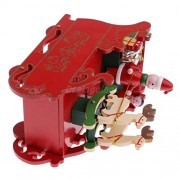 ELECTROPRIME® Christmas Sleigh Music Box Toy Kid Xmas Gift Decoration Santa Claus Reindeer
