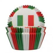 House of Marie Baking cups Italiaanse vlag - pk/50