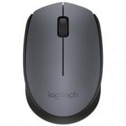 Мишка Logitech M170, безжична, USB, сива