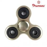 Premsons Fidget Spinner Metal Aluminium Hand Spinner Four Bearing Ultra Speed Tri-Spinner Toy - Metallic Gold