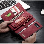 CASEME 008 Series Detachable 2-in-1 Split Leather Wallet Phone Case for Samsung Galaxy S10e - Red