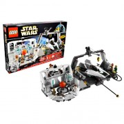 """Lego Year 2009 Star Wars 10th Anniversary Classic Series Limited Edition Set #7754 Home One Mon Calamari Star Cruiser With Command Center, Briefing Room With Death Star """"Hologram"""", Launch And Repair Hangar, Green Squadron A Wing Starfighter Plus Admiral A"""