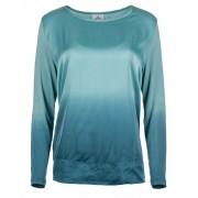 Deha Doamnelor cu mânecă Long T-shirt D83570 Blue Tiffany Blouse L