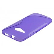 Wave Case for HTC One mini 2 - HTC Soft Cover (Frosted Purple/Purple)