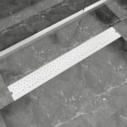 vidaXL Rigolă duș liniară, model bule, oțel inoxidabil, 930 x 140 mm