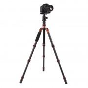 Triopo GT-2505x8.C Verstelbaar Portable Statief Koolstofvezel Tripod Standaard met B-1 Aluminium Balhoofd voor Canon Nikon Sony DSLR Camera (zwart)