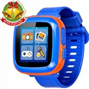 Game Smart Watch for Kids Children Boys Girls with Camera 1.5'' Touch 10 Games Pedometer Timer Alarm Clock Toy Wrist Watch Health Monitor (0001Dark Blue Mix) by GBD