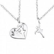 2 Coliere Colier Argint 925 + Pandantiv BALERINA si Colier Argint 925 + Pandantiv HEART