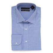 【83%OFF】CLASSIC FIT セミワイドカラー 長袖シャツ ブルー 17.5/32 ファッション > メンズウエア~~その他トップス