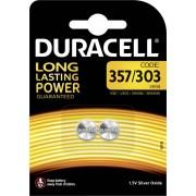 Set baterii buton oxid de argint 357, 1,5 V, 190 mAh, 2 buc., Duracell