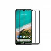 Set 2 folii protectie sticla securizata fullsize pentru Xiaomi Mi A3 / Mi CC9e , negru