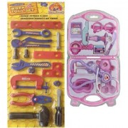 Multicolor Work Tool Set with foldable Doctor Set for kids