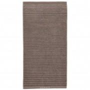 Esprit Luxusní froté ručník, koupací ručník, pruhy, hnědá barva, vyšívaný ručník, Esprit - 70x140