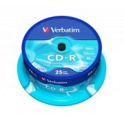 CD-R lemez, 700MB, 52x, hengeren, VERBATIM DataLife (CDV7052B25DL)