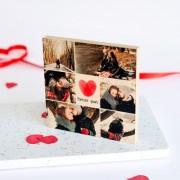 smartphoto Fotoblock Holz