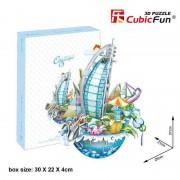 Puzzle 3D CubicFun City Scape Dubai 57 piese